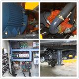 Bomba de hormigón de acoplamiento hidráulico portátil con mezclador de doble eje para la venta