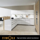 Gli armadi da cucina di legno superiori brillanti per il preventivo progetto Tivo-0084