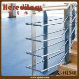 Diseño del pasamano de Rod de la barandilla de la placa de acero del metal para las escaleras interiores (SJ-H1348)