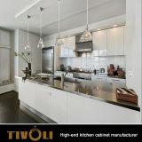 Qualitätsfarbanstrich-Küche-Schrank mit Walnuss-Inselentwurf Tivo-00131h