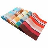Streifen-Gewebe Placemat für Tischplatte u. Bodenbelag