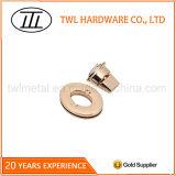 Goldfarben-ovales Beutel-Drehung-Verschluss-Befestigungsteil-Torsion-Verschluss-Metall