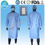 Vestidos cirúrgicos reforçados não tecidos descartáveis