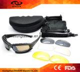 Gafas de sol a prueba de balas del ejército de CS7 X7 de los anteojos militares tácticos de los vidrios con 4 hombres originales del rectángulo de la lente que tiran Eyewear