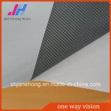Etiqueta de sentido único do vinil do indicador da visão que anuncia a visão de sentido único