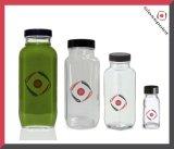bottiglia di vetro della spremuta organica quadrata francese larga della bocca di 8oz 10oz 16oz, bottiglie di vetro della bevanda del latte