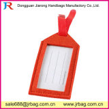Étiquette promotionnelle de bagage de feutre de guichet de PVC de qualité (F-077)
