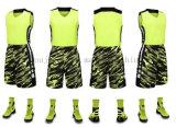 Basquetebol uniforme Jersey do terno da equipe do poliéster do OEM para a promoção
