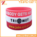 Bracelet fait sur commande de silicones de Whoelsale pour des cadeaux de promotion