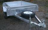 De hete Ondergedompelde Gegalvaniseerde Aanhangwagen van de Doos met de Kooi van 600 mm
