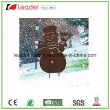 De decoratieve Staak van de Tuin van het Silhouet van de Sneeuwman van het Metaal voor de OpenluchtDecoratie van Kerstmis