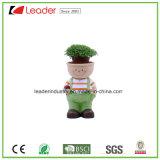 Polyresin decorativas Kid Boy Figurine vasos para decoração