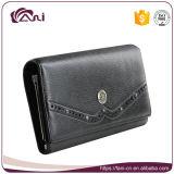 Кожа PU женщин бумажника, бумажник чернокожих женщин, тонкое длиннее портмоне