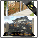 ليزر قطعة معدن ألومنيوم حديقة سياج لوح لأنّ زخرفة