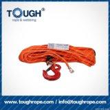 Fibra 100% resistente de Uhwmpe da corda da corda sintética do guincho Orange8mmx28m4X4