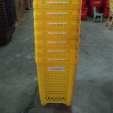 小売りの多彩なPEのプラスチック圧延のショッピング押しのバスケット