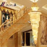 K9 Exclusivo Moderno pingente de cristal de luz para escadaria do hotel
