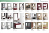 Gabinete de banheiro de estilo simples Soild Wood com bacia de cerâmica