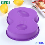 Chiffre professionnel 8 de moulage de traitement au four de gâteau de silicones de constructeur de Bakeware de vaisselle de cuisine
