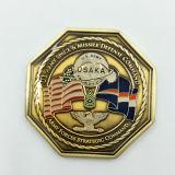 カスタムコレクションの硬貨、旧式な青銅色の硬貨
