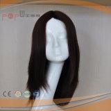 Parrucca castana dorata superiore di seta diritta delle donne del lavoro di Shevy di colore basso