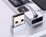 Botão de punho à moda da movimentação do flash do USB da prata da qualidade superior