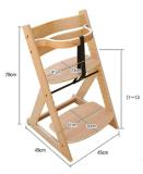 Nueva silla multifuncional del bebé, silla de madera del bebé