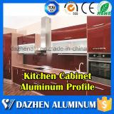 Perfil de alumínio da borda do gabinete de cozinha do fabricante do perfil com revestimento anodizado do moinho
