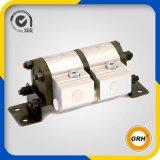 안전 밸브를 가진 유압 동기화된 교류 분배자