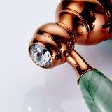 Misturador de bronze do dissipador da bacia da pintura do ouro e do jade de Flg Rosa
