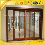 Grãos de madeira de extrusão de alumínio para portas e janelas