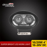 "4"" 10W formato oval azul LED luz do carro elevador"