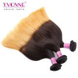 Ombreの最上質の自然でまっすぐなペルーの人間の毛髪