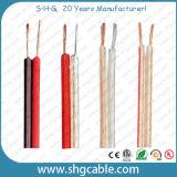 2 Núcleos siameses Cables de altavoces Transparente