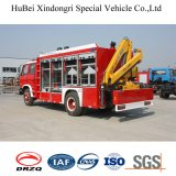 Dongfeng Rescue Firefighting Truck with Folding Boom Crane