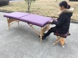 Madera Mesa de masajes portátil con reposacabezas ajustable