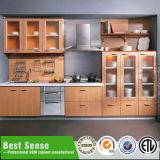 Porta de gabinete branca da cozinha do vácuo do PVC