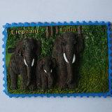 Magneet van de Koelkast van de Olifant van de Toerist van de Hars van de bevordering de Goedkope 3D Indische