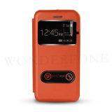 Новый сотовый телефон PU футляр из натуральной кожи с окошком для iPhone 6