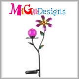 De elegante Kunsten van het Metaal tuinieren het Zonne Aangedreven Licht van de Staak