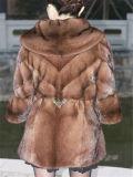 OEM de manteau de fourrure de la mode des femmes, mode, types neufs