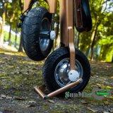 2つの車輪のスクーターを折る1秒