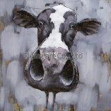 Декор стены металла 3 d для коровы