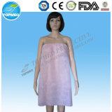 Camisa de dormir sin tirantes no tejida de SBPP para la hembra, uso del salón de belleza