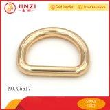 """Anello a """"D"""" in lega di zinco inossidabile su ordinazione dell'oro per il guinzaglio del cane del collare di cane"""
