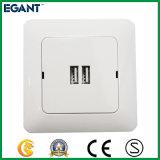Ivory weiße Wand-Kontaktbuchse mit USB