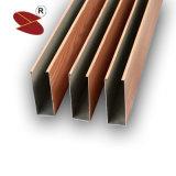 Soffitto di alluminio di figura di prezzi di fabbrica U decorativo