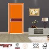 Самомоднейшая деревянная конструкция двери отделки меламина конструкции двери (GSP13-016)