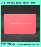 Scheda in bianco del PVC di colore rosso di Cr80/30mil per le azione del rivenditore