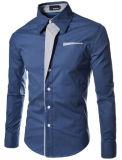 2017 casuali Long-Sleeved di affari della camicia degli uomini delle nuove camice casuali dimagriscono la camicia maschio adatta